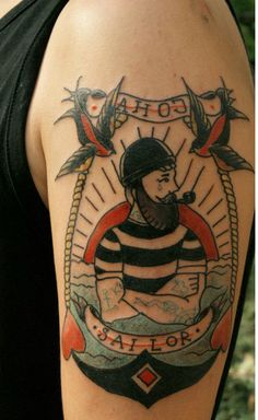 Traditional Sailor Jerry Tattoo tattooideaslive.com #traditional #jerry #sailor #tattoos