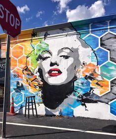 "STREET ART OFFICIAL on Instagram: ""@herbertgalarza wall in Fort Lauderdale, Florida, USA (2017) • : @timjentsch • #herbertgalarza #urbanart #streetart #painting…"""
