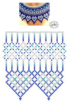 Foto Natali Khovalko - Do it my self Diy Necklace Patterns, Beaded Jewelry Patterns, Beading Patterns Free, Beading Tutorials, Beading Projects, Seed Bead Jewelry, Bead Jewellery, Motifs Perler, Beading Techniques