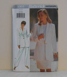 Misses Jacket Skirt and Pants Size 6810 UNCUT by filecutter, $4.75