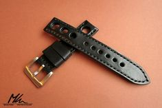 Custom made leather Rally strap 22mm www.mkleathers.pl