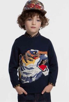 Fabulous Tiger head sweater from Kenzo Kids boyswear for fall/winter 2014