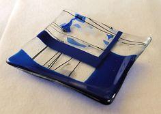 Art+Fused+Glass+Plate+Handmade+Designer+by+GlassWorksLimited,+$29.99