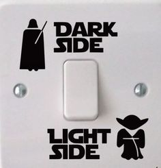 Dark Side Light Side Star Wars Light Switch Decal Wall Sticker Promo Sale