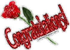 Congratulations Glittered Red Rose Image: Graphic Comment Meme or GIF Glitter Text, Red Glitter, Valentine's Day Emoji, Cute Images For Dp, Happy Name Day, Congratulations Greetings, Flowers Gif, Happy Birthday Pictures, Happy Friendship Day