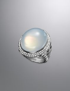 Signature Oval Ring, Moon Quartz David Yurman