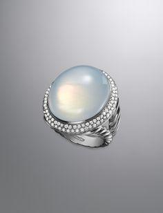 Signature Oval Ring, Moon Quartz David Yurman