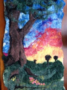 100 wool 9x16 needle wet felted and by ConspiracyofLove on Etsy, $35.00