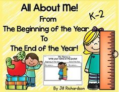 All About Me Booklet!  Show how much your students have grown throughout the year.  This is a wonderful gift at the end of the year for parents.Included:9 page booklet black and white and in color!