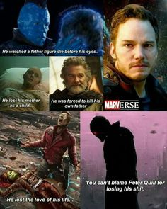 I honestly was surprised at the beginning of Infinity War that he was willing to kill Gamora because she had asked him to. His reaction was human and understandable.especially considering his previous lost loved ones. Marvel Avengers, Marvel Comics, Marvel Heroes, Avengers Story, Funny Marvel Memes, Marvel Jokes, Dc Memes, Avengers Memes, Univers Marvel