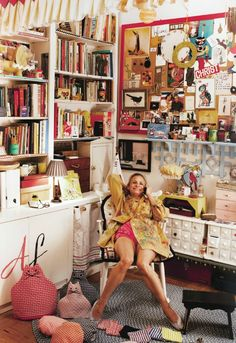 Amy Sedaris's home - love her! @Consetta Ambrose Ambrose Lorena WOW SETTY, SO MUCH LIKE YOUR STYLE!