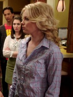 #Britta / #Gillian Jacobs on #Community wears a Frank & Eileen Limited Edition Classic Shirt in Blue with Red Windowpane!