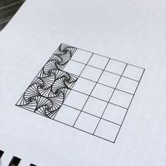 31 Ideas for doodle art ideas draw zentangle patterns Doodle Art Drawing, Zentangle Drawings, Mandala Drawing, Graph Paper Drawings, Zentangles, Graph Paper Art, How To Zentangle, Easy Zentangle Patterns, Zen Doodle Patterns