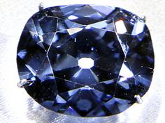 """The Hope Diamond  ~    Named after rich London banker Thomas Hope, this gem has been owned by royalty in France, Britain and Turkey, as well collectors in the UK and the US. The Hope Diamond was cut from The Blue Diamond of the Crown of France, a gem that was smuggled to London during the French Revolution. The """"French Blue"""" was itself cut from the Tavernier Blue, a huge rough diamond that mysteriously made its way to France from India in the late 17th century."""