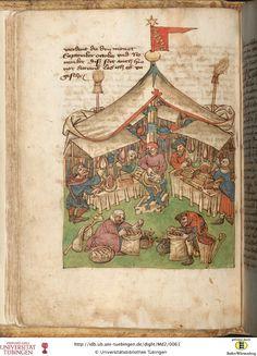 Tübinger Hausbuch: Iatromathematisches Kalenderbuch ; die Kunst der Astronomie und Geomantie  Württemberg, [15. Jh.]