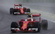 Kimi Räikkönen, Sebastian Vettel, Brazil 2016, Ferrari