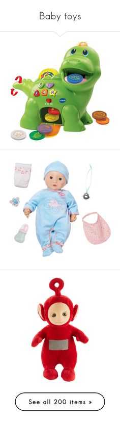 """""""Baby toys"""" by buildyourown ❤ liked on Polyvore featuring toys, baby toys, baby, baby stuff, kids, baby girl, baby things, accessories, nûby and multicolored"""