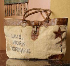 mona b bags | Mona B. Toggle Closure Long Canvas Bag