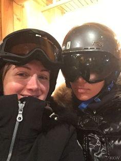 7b394ec1ae7 Kim Kardashian Had an Existential Crisis About Ski Helmets Kardashian  Photos