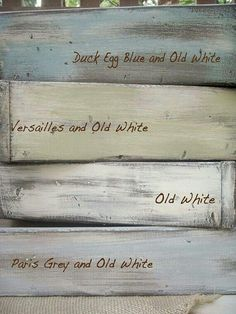 Favorite paint colors.