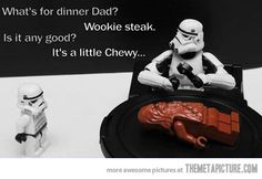 A chewy dinner…