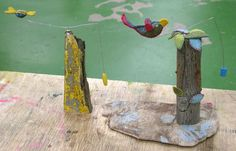 Two balancing toys made by me during Automata course at West Dean College