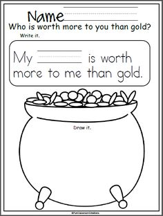 Worksheet for writing St. Patrick's Day – Madebyteachers – Find Your St Patrick's Day Activities St Patricks Day Crafts For Kids, St Patrick's Day Crafts, Kindergarten Language Arts, Kindergarten Activities, St Patrick's Day Story, Senior Activities, Halloween Activities, Art Activities, Physical Activities