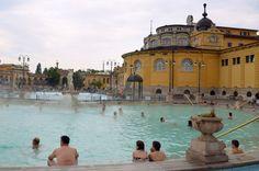 Szechenyi bathers in Budapest, Hungary (photo by James Clark)