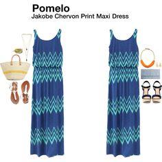 """""""Jakobe Chervon Print Maxi Dress"""" by katrinalake on Polyvore"""