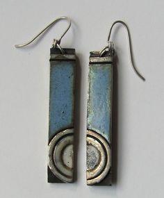 Raku earrings by Amanda Ray
