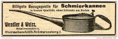 Original-Werbung/ Anzeige 1910 - SCHMIERKANNEN / WENDLER & WEISS - OBERSACHSENFELD - ca. 90 x 30 mm