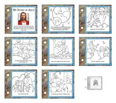 Story book Lds Coloring Pages, Easter Coloring Pages, Coloring Book, Adult Coloring, Idees Cate, Jesus Book, Easter Story, Church Activities, Primary Activities