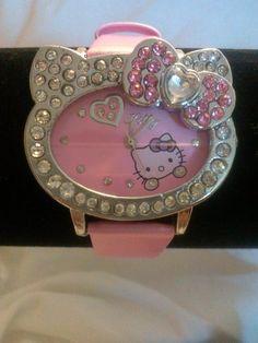 Heart Shaped Hello Kitty Watch (Pink)