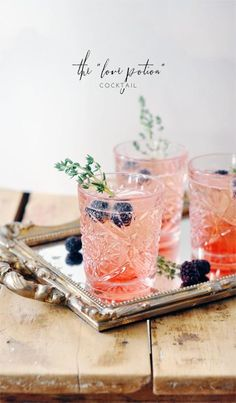 Try this pink drink for Valentine's Day! | via Jacquelyn Clark