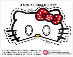Free Printable for Kids - Hello Kitty masks, 4 bow color choices. Kitty Party, Hello Kitty Birthday Party Ideas, Birthday Ideas, Printable Halloween Masks, Printable Masks, Free Printable, 3rd Birthday Parties, 2nd Birthday, Anniversaire Hello Kitty