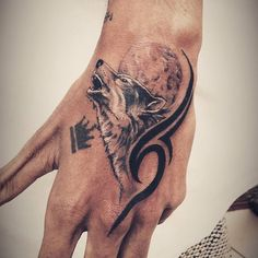 #wolf #tattoo #blackwork #tribal #realistic #art #sachinthokal #sinktattoo