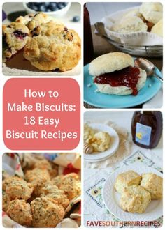 How to Make Biscuits: 18 Easy Biscuit Recipes | What makes for a better side dish than a bsicuit? Love these biscuits!