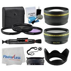 55mm Lens 3 Piece Filter Accessory Kit for Canon Nikon Sony Samsung UVCPLFLD  Telephoto Lens  Wide Angle  Lens Hood  Lens Cap Holder  Cleaning Cloth  5 Piece Cleaning Kit  Value Bundle >>> Click image for more details. This is Amazon affiliate link.