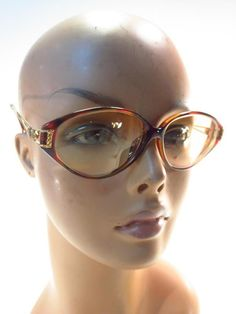 5ee7e370e3 Details about Vintage Boston Eye Design Sunglass Eyeglass Frames Tortoise  Ornate Arms Rhinesto