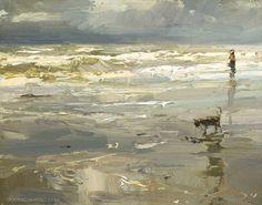 Seascape The Wonders of Grey Watercolor Landscape, Landscape Art, Landscape Paintings, Landscapes, French Paintings, Beautiful Paintings, Seascape Paintings, Beach Art, Ciel