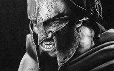Leonidas drawing by Garvel Art from Valencia, Spain Body Art Tattoos, Sleeve Tattoos, Gladiator Tattoo, Spartan Tattoo, Warrior Drawing, Spartan Warrior, Greek Warrior, Geniale Tattoos, Drawing Artist