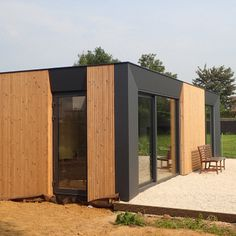 Backyard Guest Houses, Backyard Pavilion, Container Architecture, Container Buildings, Small Villa, Tiny House Community, Small Tiny House, Casas Containers, Building A Container Home