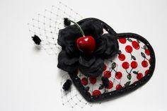 Cherry Heart Fascinator