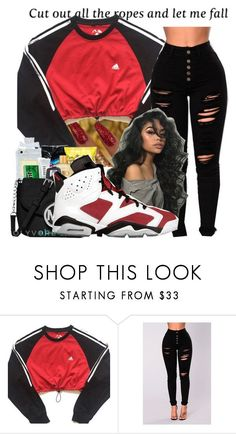 """all I want is you "" by littydee ❤ liked on Polyvore featuring Versace and adidas"
