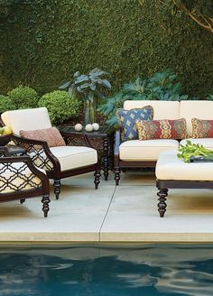 Elegance and grace will fill your outdoor living space with the addition of the stunning Black Sands Deep Seating Collection by Tommy Bahama.    Frontgate: Live Beautifully Outdoors