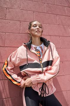 """Street & Sporty Styles Collide In P.E Nation's """"Sweat It Out"""" Collection Cute Girls With Braces, Estilo Fitness, Evolution Of Fashion, Sweat It Out, Mens Activewear, Sporty Style, Active Wear For Women, Windbreaker Jacket, Fashion 2020"""