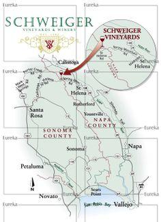 Vineyard locator map © Eureka Cartography, Berkeley, CA
