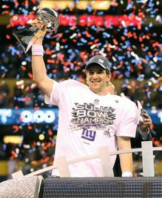 He is proof that your stats during the regular season doesn't matter. Stats doesn't necessarily get you to the Super Bowl. 2 rings baby! Love you Eli.