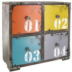 small colored drawers - Google Search