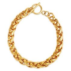 Check out this item at One Kings Lane! Braided Gold Link Bracelet